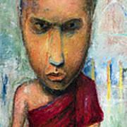 Sri Lankan Monk - 2012 Art Print by Nalidsa Sukprasert