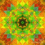Sri Yantra Variation Mandala Art Print