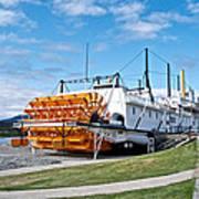 Ss Klondike Sternwheeler From Stern On The Yukon River In Whitehorse-yk Art Print