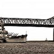 Uss Massachusetts 0001 Art Print
