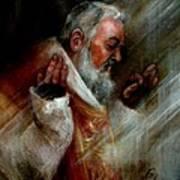 Ss Padre Pio At Matins Art Print