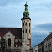 St. Andrew's Church In Krakow At Dusk Art Print