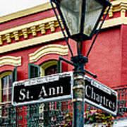St. Ann And Chartres Nola  Art Print