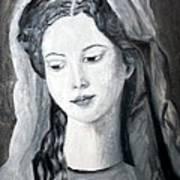 St. Anne - Value Work  Art Print