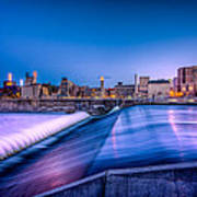 St. Anthony Falls In Minneapolis Art Print