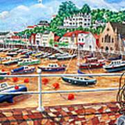 St Aubin's Harbour - Jersey Art Print