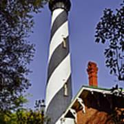 St Augustine Lighthouse - Old Florida Charm Art Print by Christine Till
