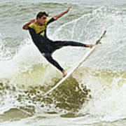 St Augustine Surfer Two Art Print