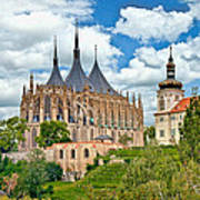 St Barbara Church Kutna Hora Art Print