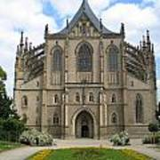 St Barbaras Cathedral Kutna Hora Czech Republic Art Print