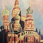 St Basil's Cathedral Moscow Art Print