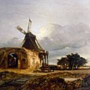 St Benets Abbey And Mill, Norfolk, 1833 Art Print
