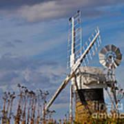 St Benets Drainage Mill Norfolk Art Print