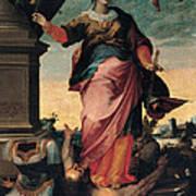 St Catherine Of Alexandria, 1570 - 1611 Art Print