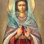 St. Catherine Art Print by Zorina Baldescu
