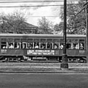St. Charles Ave. Streetcar Monochrome Art Print
