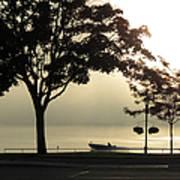 St. Clair Sunrise With Fog Art Print