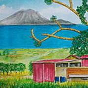St. Eustatis From St. Kitts Art Print