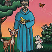 St. Francis Animal Saint Art Print