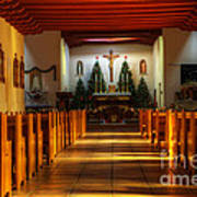 St Francis De Paula Mission Tularosa Art Print by Bob Christopher