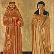 St. Francis Of Assisi And St. Clare Art Print