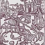St. George - Woodcut Art Print