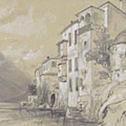 St Giulio Orta Art Print by Edward Lear