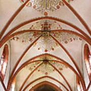St Goar Organ And Ceiling Art Print