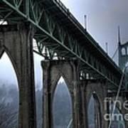 St Johns Bridge Oregon Art Print