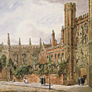 St. Johns College, Cambridge, 1843 Art Print