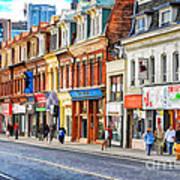Yonge Street In Toronto Art Print
