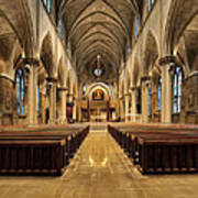 St Joseph Cathedral IIi Art Print by Dick Wood