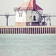 St. Joseph Lighthouse Vertical Panorama Photo Art Print