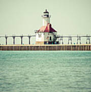 St. Joseph Lighthouse Vintage Picture  Art Print