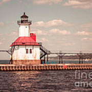 St. Joseph Lighthouse Vintage Picture  Photo Art Print