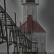 St. Joseph North Pier Lighthouse Lake Michigan Art Print