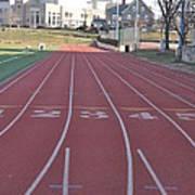 St Josephs University Track Art Print