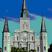 St Louis Cathedral 3 Art Print