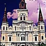 St Louis Cathedral In New Orleans Art Print