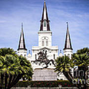 St. Louis Cathedral In New Orleans  Art Print