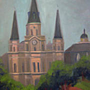 St. Louis Cathedral Art Print by Lilibeth Andre