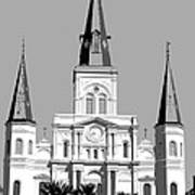 St Louis Cathedral Poster 1 Art Print