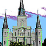 St Louis Cathedral Poster 2 Art Print