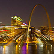 St Louis Skyline With Special Zoom Effect Art Print