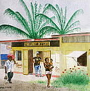 St. Lucia Store Art Print
