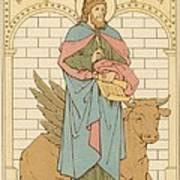 St Luke The Evangelist Art Print by English School