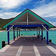 St. Maarten Pier Art Print