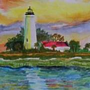 St. Marks Lighthouse-2 Art Print