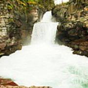 St Mary Falls Glacier National Park Art Print
