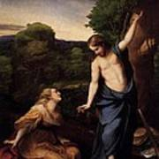 St Mary Magdalene And Christ Art Print